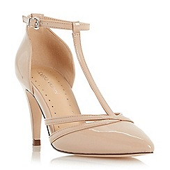 Roberto Vianni - Natural 'Clarey' pointed toe t-bar court shoe