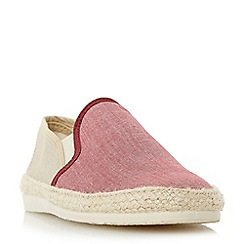 Bertie - Red 'Fondant' chambray espadrille shoe