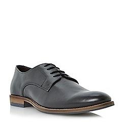 Dune - Black 'Brummie' plain leather lace up shoe