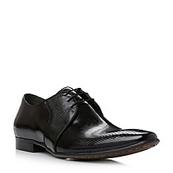 Dune - Black 'Acid' stripe detail leather lace up smart shoe