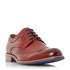 Dune - Red 'Radcliffe' derby brogue shoe