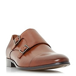 Dune - Tan 'Reynolds' toecap detail double strap monk shoe