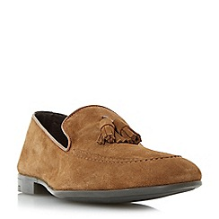 Dune - Tan 'Remmy' suede tassel loafer