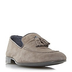Dune - Grey 'Remmy' suede tassel loafer
