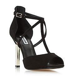 Dune - Black 'Melodee' jewelled heel peep toe sandal