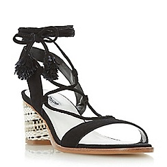 Dune - Black 'Jolly' aztec block heel sandal