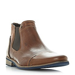 Dune - Tan 'Chili' blue sole toecap leather chelsea boot