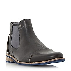 Dune - Black 'Chili' blue sole toecap leather chelsea boot