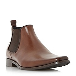 Dune - Tan 'Arkwrights' square toe leather chelsea boot