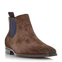 Dune - Brown 'Maritime' colour pop chisel toe chelsea boot