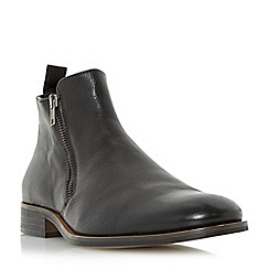 Dune - Black 'Maccabees' leather double side zip boot