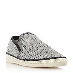 Dune - Grey 'Falmouth' mesh detail espadrille shoe