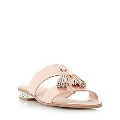 Dune - Rose 'Newberry' tassel detail jewel heel sandal