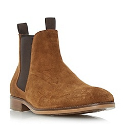 Bertie - Tan 'Cole' double pull up tab chelsea boot