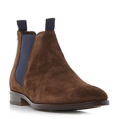 Bertie - Brown 'Cole' double pull up tab chelsea boot
