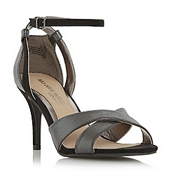 Head Over Heels by Dune - Black 'Maddie' ankle strap two part heeled sandal