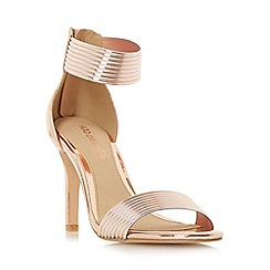 Head Over Heels by Dune - Rose 'Maven' rib detail mid heel sandal