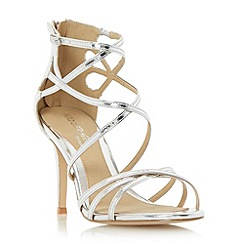 Head Over Heels by Dune - Silver 'Minita' metallic strappy high heel sandal