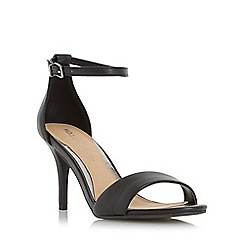 Head Over Heels by Dune - Black 'Mora' two part mid heel sandal