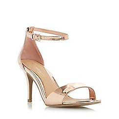 Head Over Heels by Dune - Rose 'Mora' two part mid heel sandal