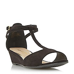 Head Over Heels by Dune - Black 'Marsella' t-bar mini wedge sandal