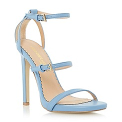 Head Over Heels by Dune - Blue multi strap high heel sandal