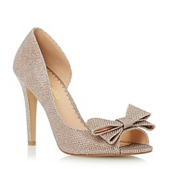 Head Over Heels by Dune - Metallic semi d'orsay bow detail court shoe