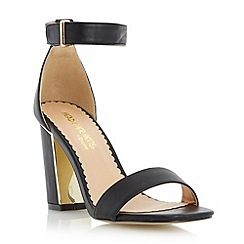 Head Over Heels by Dune - Black metallic insert block heel sandal