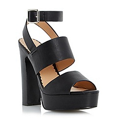 Head Over Heels by Dune - Black chunky platform sandal