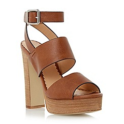 Head Over Heels by Dune - Brown chunky platform sandal