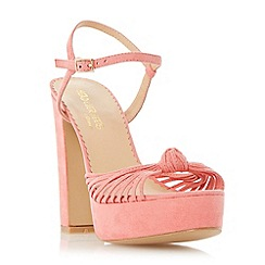 Head Over Heels by Dune - Pink platform knot detail high heel sandal