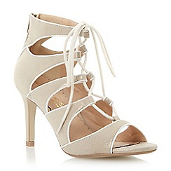 Head Over Heels by Dune - Metallic ghillie lace up mid heel sandal