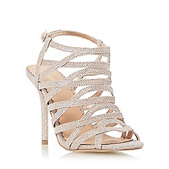 Head Over Heels by Dune - Gold-lurex 'Manara' strappy high heel sandal