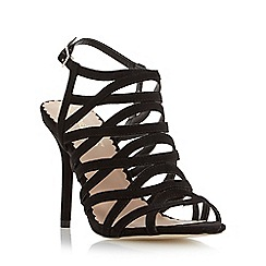Head Over Heels by Dune - Black strappy high heel sandal