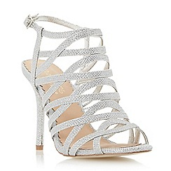 Head Over Heels by Dune - Metallic strappy high heel sandal