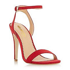 Head Over Heels by Dune - Red two part high heel strappy sandals