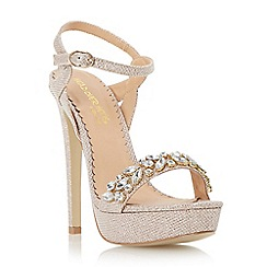 Head Over Heels by Dune - Gold 'Megara' jewelled platform sandal