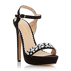 Head Over Heels by Dune - Black 'Megara' jewelled platform sandal