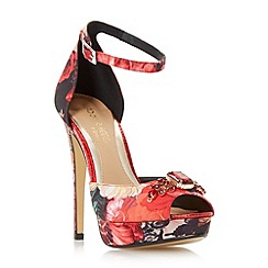 Head Over Heels by Dune - Multicoloured 'Maysey' floral peep toe platform sandal