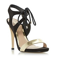 Head Over Heels by Dune - Black 'Matava' ghillie lace up high heel sandals