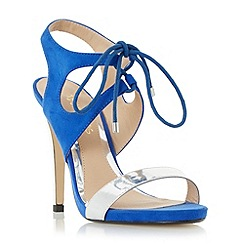 Head Over Heels by Dune - Blue 'Matava' ghillie lace up high heel sandals