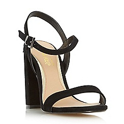 Head Over Heels by Dune - Black 'Maylie' two part block heel sandal
