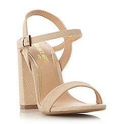 Head Over Heels by Dune - Natural 'Maylie' two part block heel sandal
