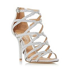 Head Over Heels by Dune - Silver 'Meemi' strappy caged high heel sandal