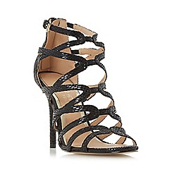 Head Over Heels by Dune - Black 'Meemi' strappy caged high heel sandal