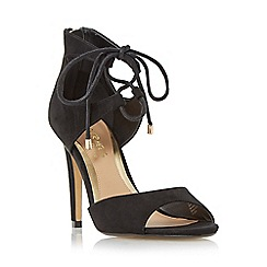 Head Over Heels by Dune - Black 'Modern' ghillie lace two part sandal