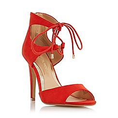 Head Over Heels by Dune - Orange 'Modern' ghillie lace two part sandal