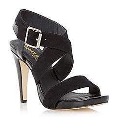 Head Over Heels by Dune - Black cross strap heeled sandal