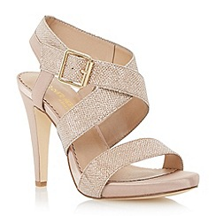 Head Over Heels by Dune - Metallic cross strap heeled sandal
