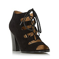 Head Over Heels by Dune - Black 'Morven' lace up peep toe sandal